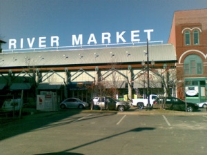 Exterior view of the River Market. Photo by Phil Frana.