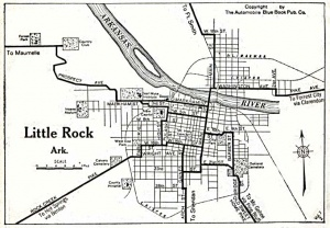 Little Rock street system in 1920.