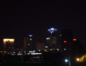 Skyline of Little Rock at night. Photo courtesy of Spencer Smith.