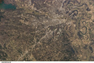 View of Pulaski County from space. Image courtesy of NASA Johnson Space Center.