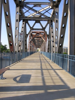 Junction Bridge pedestrian walkway. Photo by Sean Oakley.