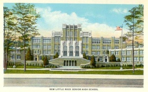 Historic postcard view of Central High School.
