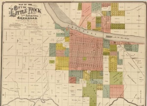 Little Rock and Argenta with additions, extensions, and subdivisions in 1888.